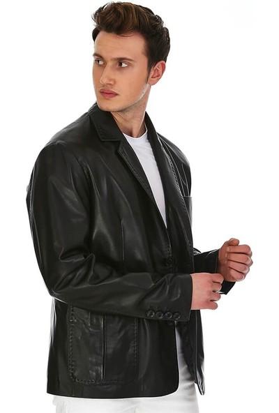 Dinamo Leather Erkek Gerçek Deri Ceket DE-1583 - 20020 Dl1