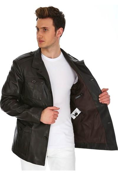 Dinamo Leather Erkek Gerçek Deri Ceket DE-757 - 20118 Dl1