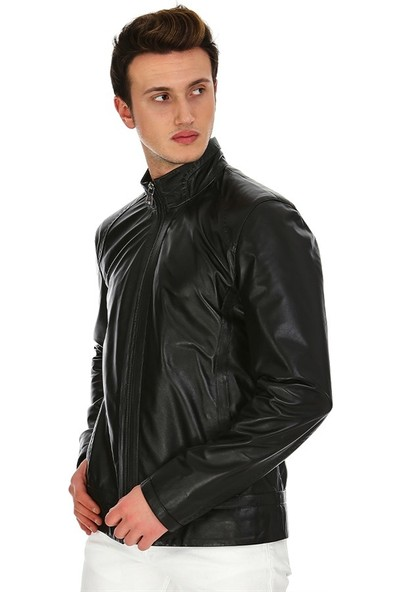 Dinamo Leather Erkek Gerçek Deri Ceket DE-788 - 20029 Dl1
