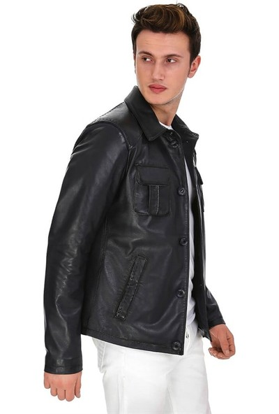 Dinamo Leather Erkek Gerçek Deri Ceket DE-942 - 20097 Dl1