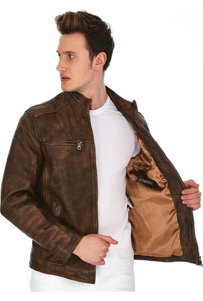 Dinamo Leather Erkek Gerçek Deri Ceket DE-695 - 20165 Dl1