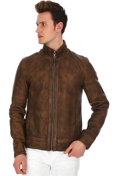 Dinamo Leather Erkek Gerçek Deri Ceket DE-788 - 20169 Dl1