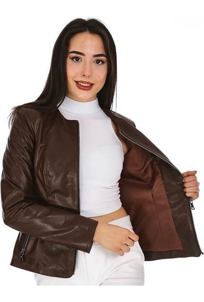 Dinamo Leather Kadın Gerçek Deri Ceket - DB-1017 - 20178 Dl1