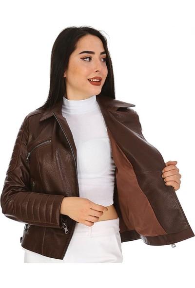 Dinamo Leather Kadın Gerçek Deri Ceket - DB-574 - 20186 Dl1