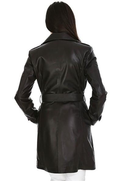 Dinamo Leather Kadın Gerçek Deri Ceket - DB-590 - 20120 Dl1