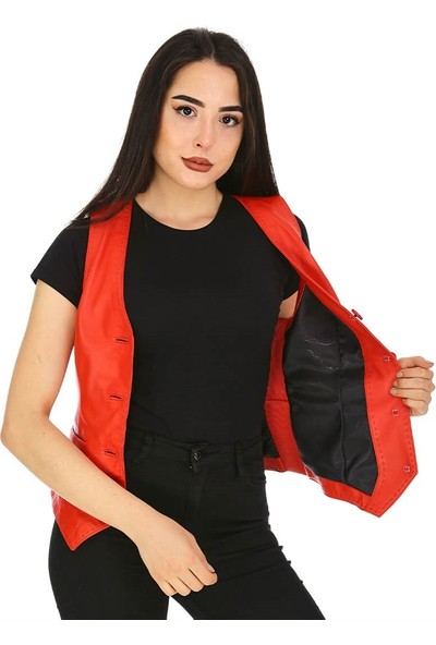 Dinamo Leather Kadın Gerçek Deri Ceket - DB-YLK-B-528 - 20148 Dl1