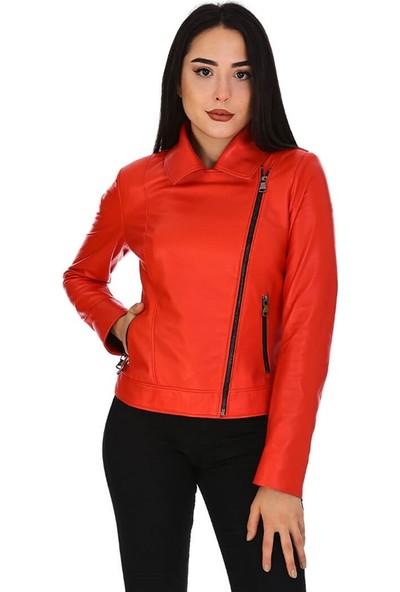 Dinamo Leather Kadın Gerçek Deri Ceket - DB-1396 - 20146 Dl1