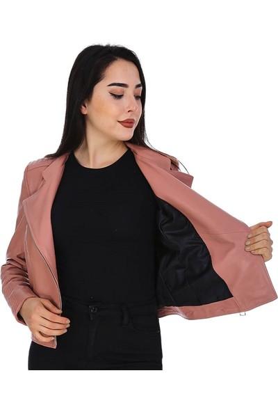 Dinamo Leather Kadın Gerçek Deri Ceket - DB-382 - 20143 Dl1
