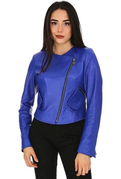 Dinamo Leather Kadın Gerçek Deri Ceket - DB-1155 - 20112 Dl1