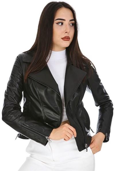 Dinamo Leather Kadın Gerçek Deri Ceket - DB-382 - 20003 Dl1
