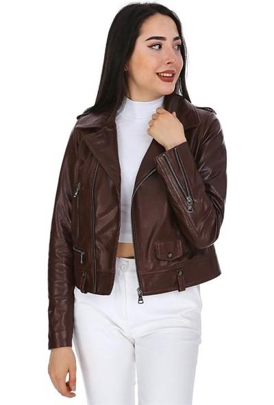 Dinamo Leather Kadın Gerçek Deri Ceket - DB-1569 - 20180 Dl1