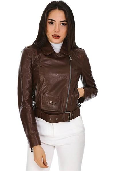 Dinamo Leather Kadın Gerçek Deri Ceket - DB-827 - 20184 Dl1