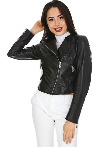 Dinamo Leather Kadın Gerçek Deri Ceket - DB-1155 - 20010 Dl1