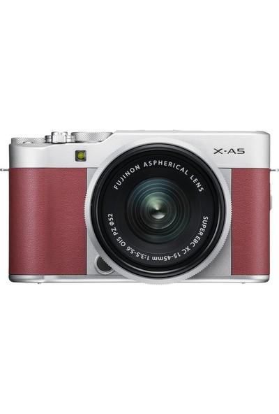 Fujifilm X-A5 15-45 mm Lensli Aynasız Dijital Fotoğraf Makinesi - Pembe (Yurt Dışından)