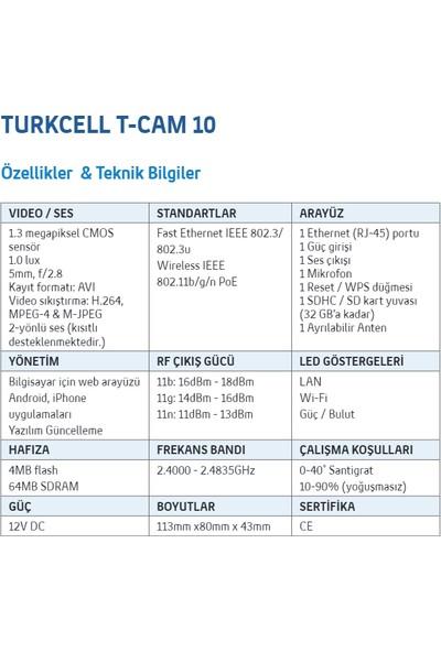 Turkcell T-Cam 10 Güvenlik Amaçlı Kamera