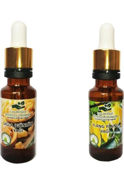 Çalıkoğlu Bitkisel Ürünler Sığla (Günlük) Yağı - Ylang Ylang Yağı 2'li Avantaj Paketi 20 ml