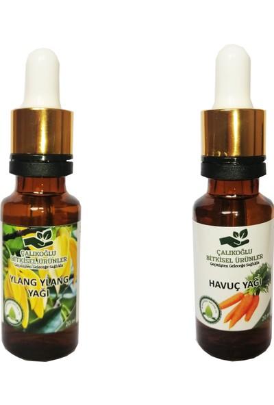 Çalıkoğlu Bitkisel Ürünler Ylang Ylang Yağı - Havuç Yağı 2'li Avantaj Paketi 20 ml