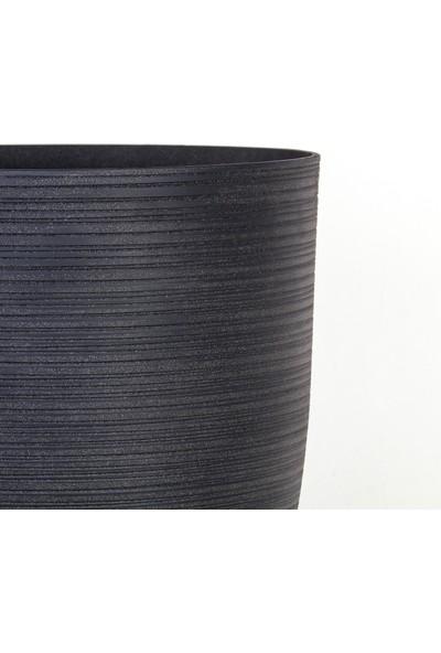 Euro Flora Fitilli Desen Konik Saksı 42X52,5 cm