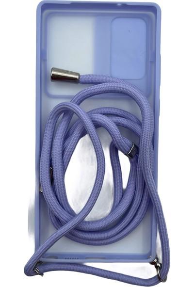 Mopal Obenim Samsung Note 20 Kamera Korumalı & Boyun Askılıkılıf Ob-81 Mor