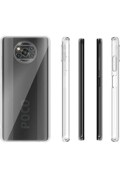 Inoomi Xiaomi Poco X3 Nfc Kılıf Lüks Kamera Korumalı Silikon Şeffaf