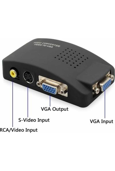 Tenon Video To VGA Çevirici Av To VGA Çevirici Rca To VGA Çevirici Tv Den Pc'ye Konvertör
