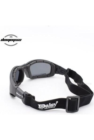 Daisy Polarize Değişebilir 4 Lensli Motorsiklet Gözlüğü