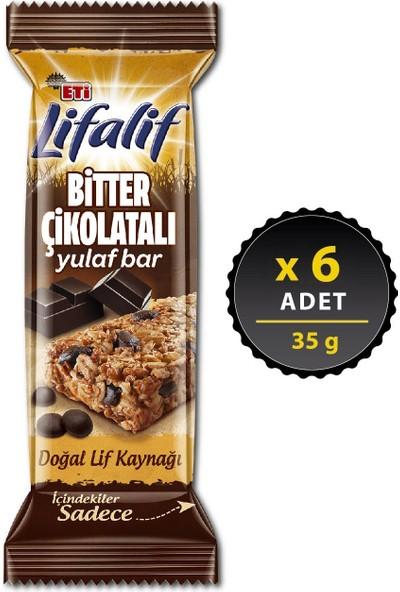Eti Lifalif Bitter Çikolatalı Yulaf Bar 35 g x 6 Adet