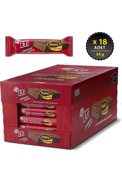 Eti Çikolatalı Gofret 34 g x 18 Adet