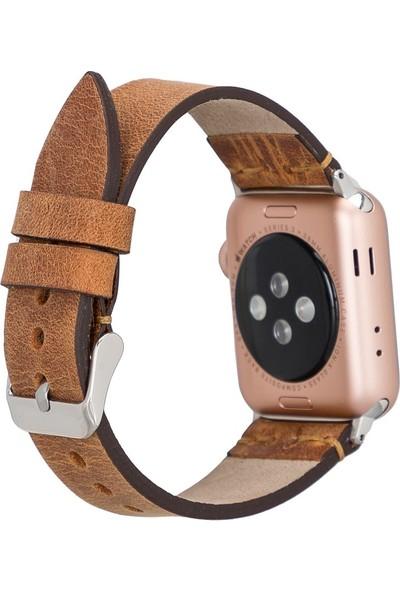 PLM Apple Watch Deri Kordon Ba7 42-44MM G19 Taba