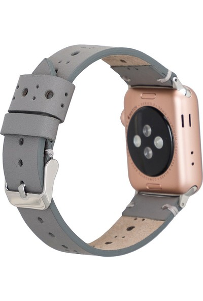 PLM Apple Watch Deri Kordon Ba8 42-44MM Rst9 Gri