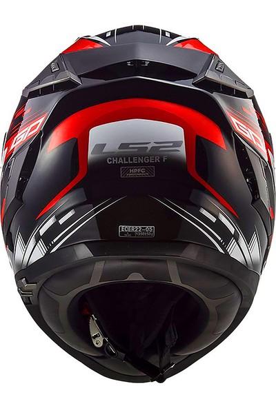 Ls2 Challenger Gp Siyah-Kırmızı Kask