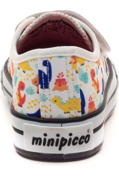 Minipicco Çocuk Beyaz Anatomik Destekli Spor Ayakkabı