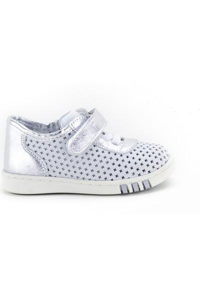 Minipicco Çocuk Beyaz-Lame Deri Anatomik Destekli Çocuk Ayakkabı