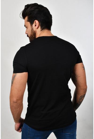 Deepsea Siyah Baskılı Erkek T-Shirt 2002064