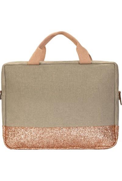 """Bloominbag Greenish Glitter 15.6"""" Kadın Notebook Çantası"""