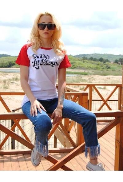 Orijin Harley Quinn Daddy's Lil Monster Kadın Tişört