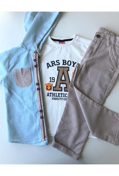 Aras Erkek Çocuk Gömlekli Üçlü Takım