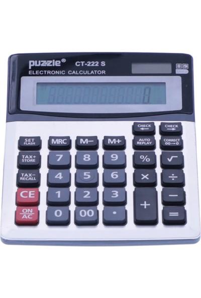 Puzzle 12 Haneli Hesap Makinesi CT-222 S