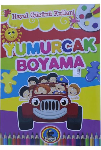 Karatay Çocuk Yumurcak Araba Baskılı Boyama Kitabı