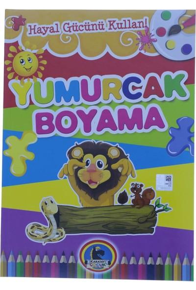 Karatay Çocuk Yumurcak Aslan Baskılı Boyama Kitabı