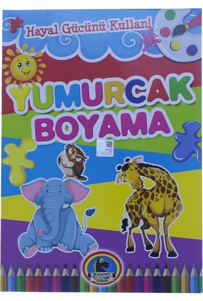 Karatay Çocuk Yumurcak Hayvan Baskılı Boyama Kitabı