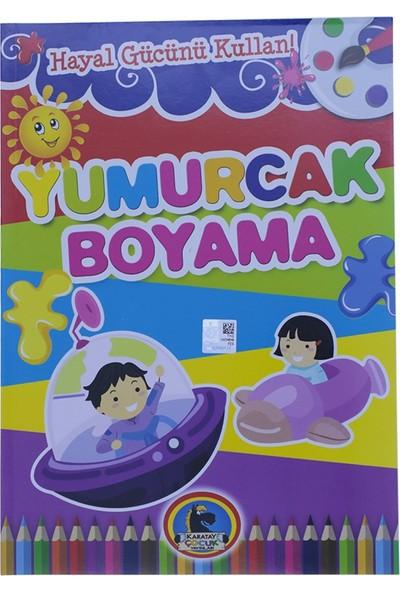 Karatay Çocuk Yumurcak Uzay Gemisi Baskılı Boyama Kitabı