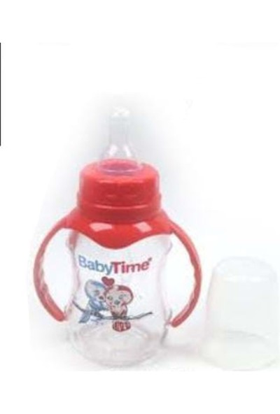 Baby 079 Cam Biberon Kulplu - Kırmızı - 120 ml