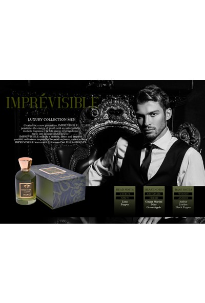 Roqvel Imprévısıble Extraıt 100 ml Erkek Parfüm