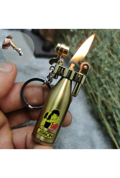 Jobon Alsepeteavm Gold Taşlı Benzinli Kutulu Çakmak BX145