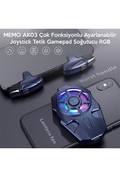 Memo AK03 Çok Fonksiyonlu Ayarlanabilir Joystick Tetik Gamepad Soğutucu Rgb AL-34060