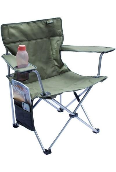 Kudos Bardaklıklı Haki Çantalı Kamp Sandalyesi