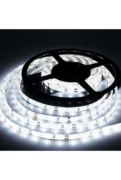 Ookay 5630 Şerit LED Dc 12V Double Pcb 8 Çip Smd Silikonsuz Şerit LED Beyaz 5 Metre Şerit LED