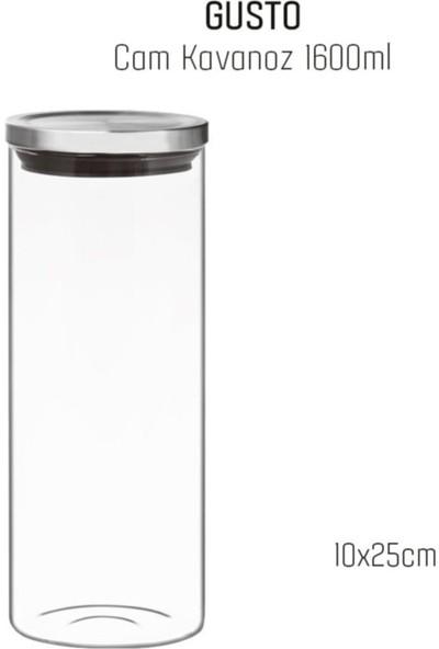 Perotti Metal Kapaklı Cam Kavanoz 1600 ml