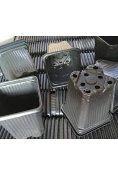 SERFİRAZ Viyol Kare Vakumlu Termoform Fidan Fide Üretim Saksısı Orta Boy 8X8X8 100 Adet